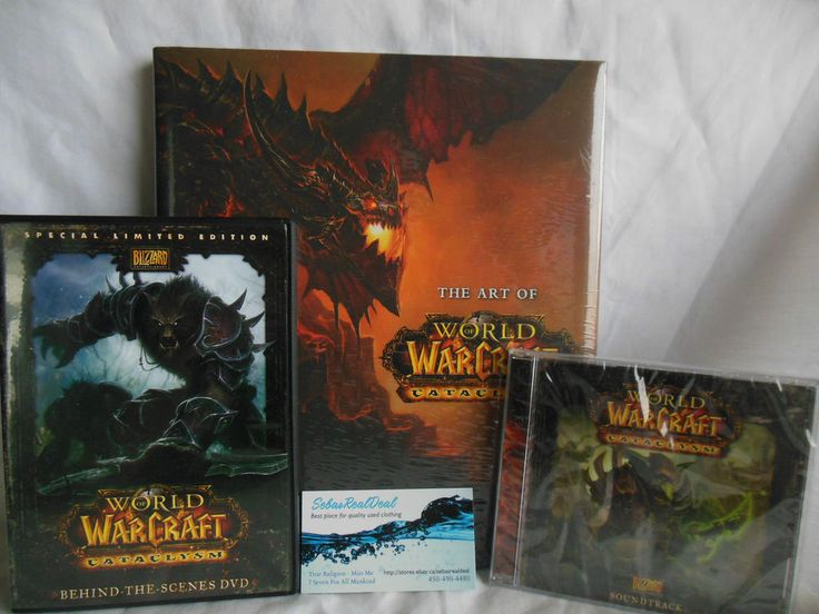 World of Warcraft Cataclysm collectors items HC Art Book DVD and Soundtrack