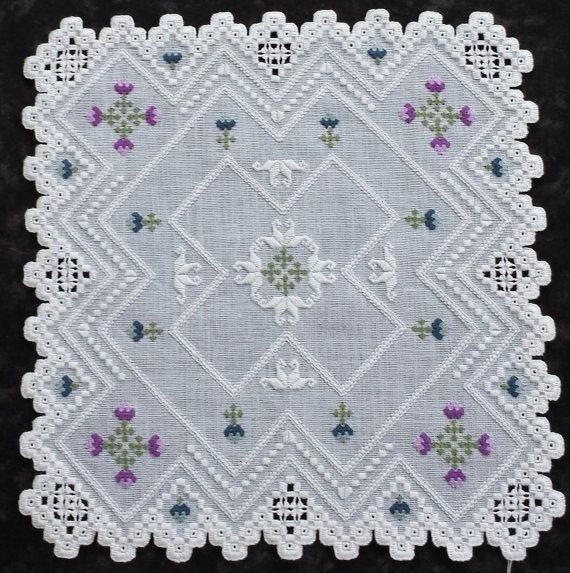 "60. 'Queenly Blooms' a 10 1/2"" Doily pattern."