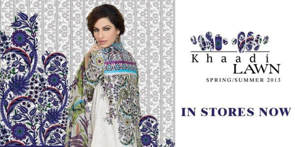 KHAADI Lawn 2013 collection for women has launched in Pakistan and Internationally on 9th of March 2013. Khaadi is a well known and popular clothing brand that started in 1998 with the aim of providing the best quality fabric and design.