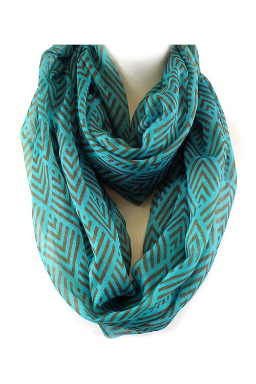 Averly Infinity Scarf in Teal