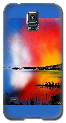 Dawn Twilight Galaxy S5 Case Printed with Fine Art spray painting image Dawn Twilight by Nandor Molnar (When you visit the Shop, change the orientation, background color and image size as you wish)
