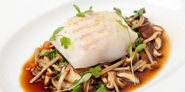 Andy McLeish's poached cod recipe features a mesmerising array of ingredients - from shimeji mushrooms to samphire