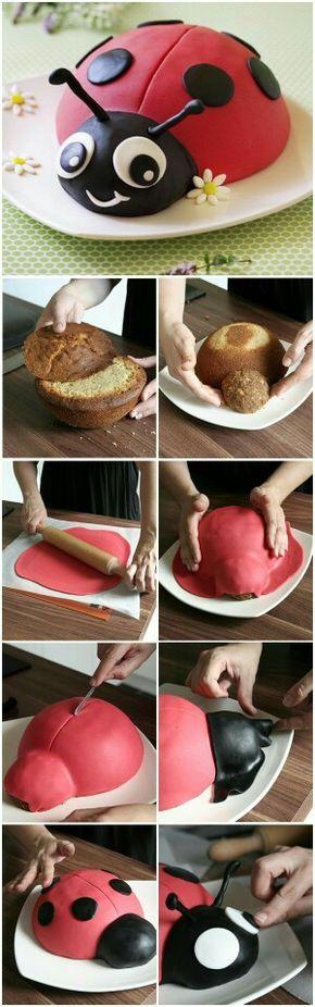 Gâteau en forme de coccinelle idéal pour les enfants
