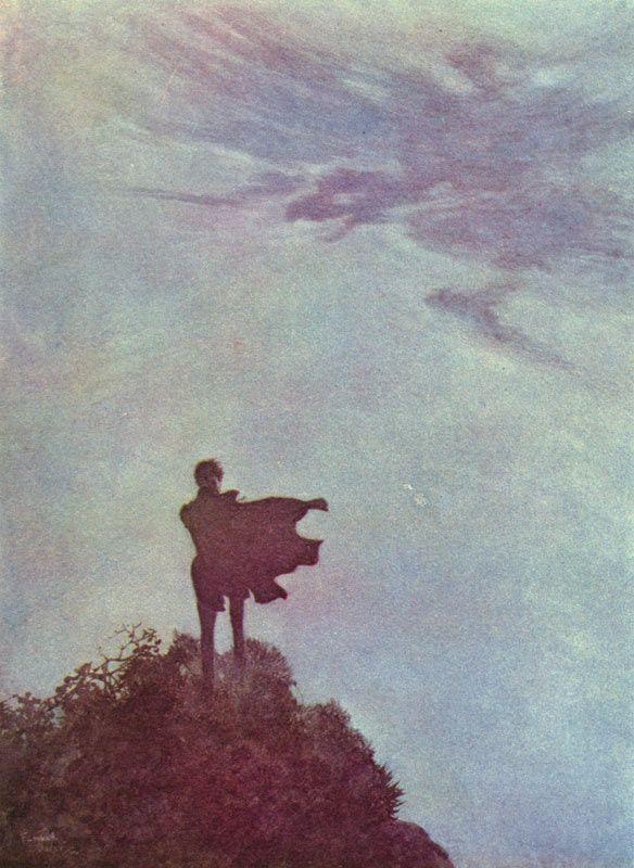 Edmund Dulac - 1882-1953 - illustration for Edgar Allan Poe, 1912