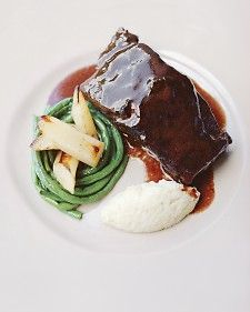 Another short rib recipe I want to try - braised short ribs with red wine and chocolate, two of my favorites!