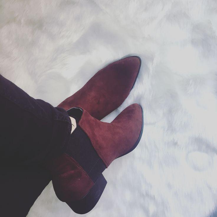 BURGUNDY shoes H&M