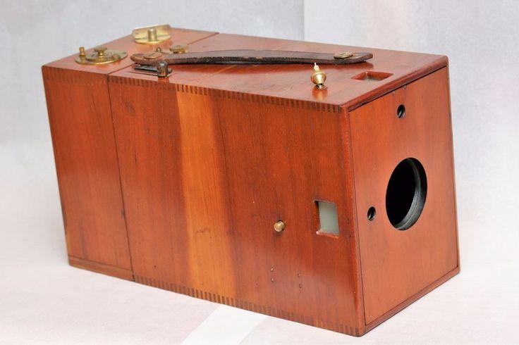 RARE 1891-1895 Kodak Ordinary C Camera & optional glass plate back. All WOOD cam