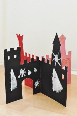 Castle cardboard two piece with slits (templates, sort of)