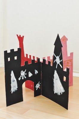 spooky castleCardboard Castles, Role Plays, Paper Castles, Paper Ghost Castle Diy, Easy Castles, Spooky Castles, Play Areas, Plays Area, Castles Cardboard