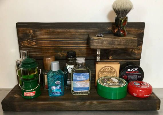 Traditional Wet Shaving Barn Wood  Shelf by RazorsEdgeUSA on Etsy