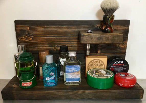Traditional Wet Shaving Barn Wood  Shelf by RazorsEdgeUSA on Etsy