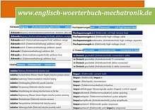 Bild: deutsch-englisch Uebersetzungen: induktive Wegmessung, Zuendsystem (kfz-Mechatronik