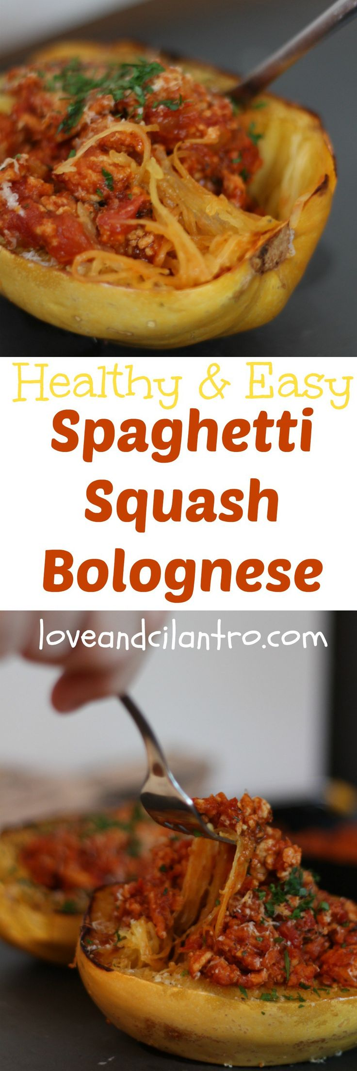 This lightened up version of spaghetti bolognese is healthy, hearty, delicious, and fun to eat (right out the spaghetti squash)!