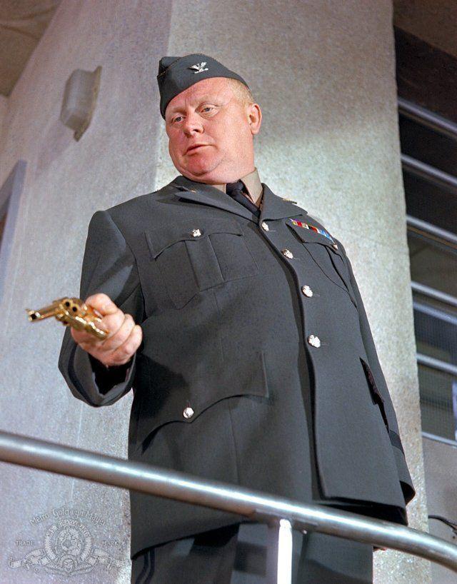 "Still of Gert Fröbe in ""Goldfinger"", 1964"