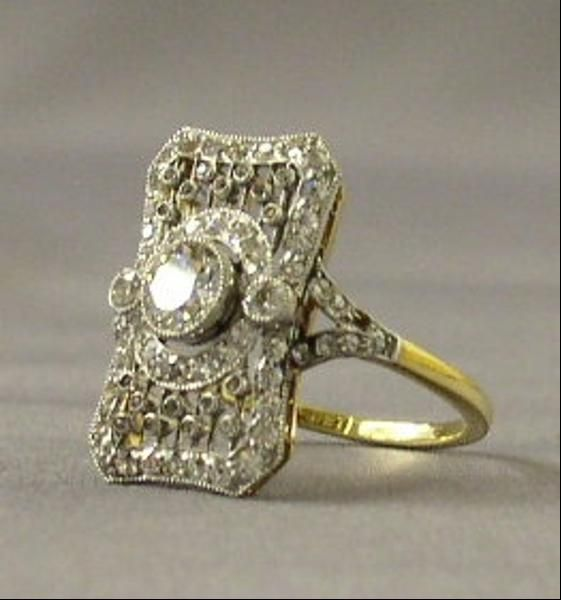 edwardian jewelry | Filigree Ring with Diamonds - In Photos: Titanic Jewelry - Forbes