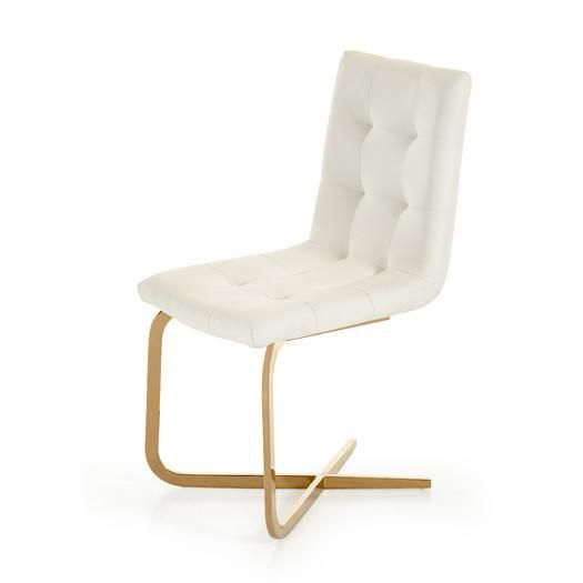 Lansing White Tufted Side Chair