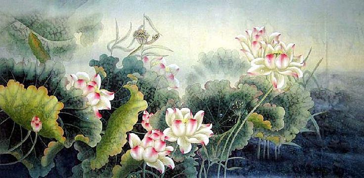 lotus painting - Tìm với Google
