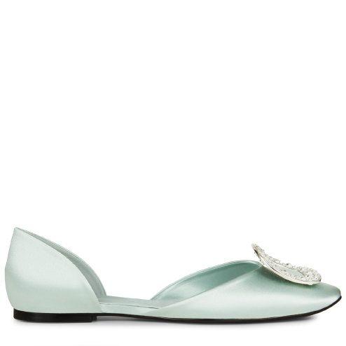 ROGER VIVIER Chips Strass Ballerinas In Silk. #rogervivier #shoes #
