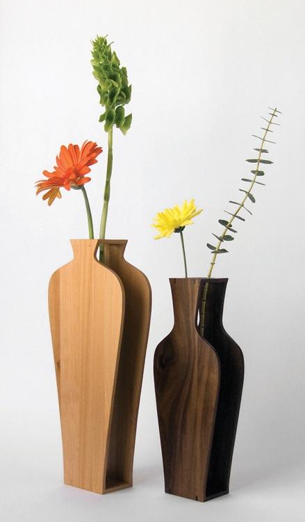 Silhouette Vases Home Sweet Home Wood Vase Wood