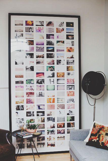 Ook leuk idee voor veel foto's in je woonkamer en toch geordend.
