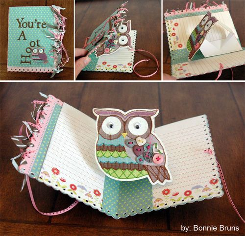 Love this owl pop-up card!: