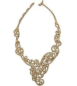 "Batucada Jewels on the Skin ""Baroc"" Necklace Bronz"