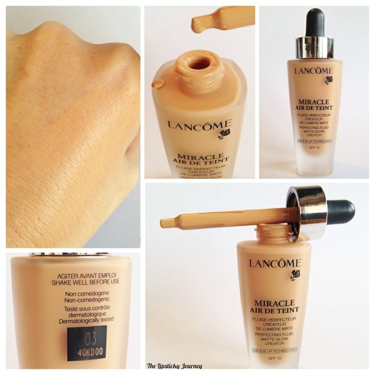 DETAILS from my latest post with new Lancome foundation Miracle Air de Teinte