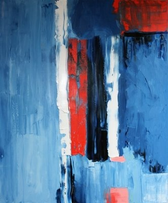 'Blue Red', Oil on Canvas.