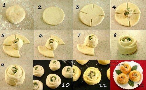 Συνταγές για μικρά και για.....μεγάλα παιδιά: Πως να κάνουμε σχέδια ζύμης τριαντάφυλλα!