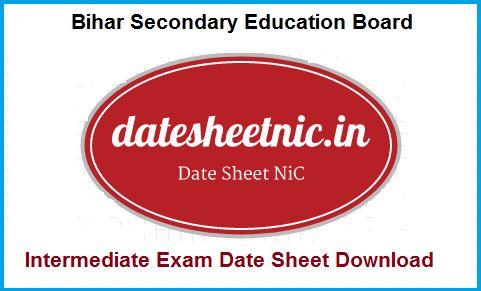 Bihar Board Intermediate Routine 2018, BSEB 12th Exam Date Sheet 2018 Download PDF, BSEB Intermediate Routine 2018, Bihar Board 12th Date Sheet 2018