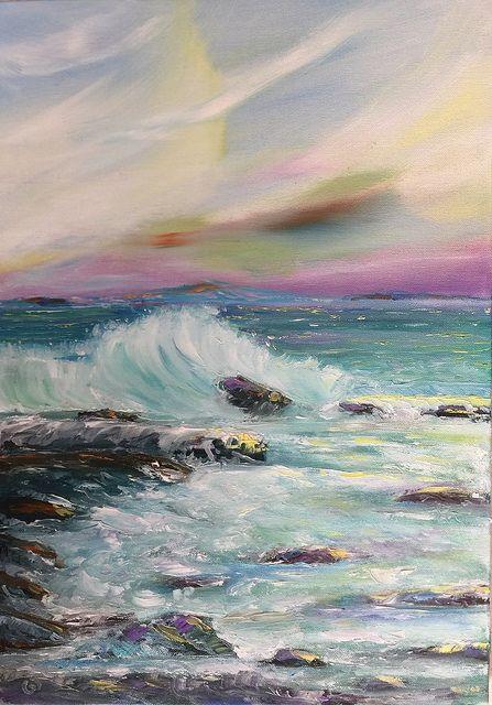 Parçalı, 50x35, oil&canvas, #gurseltokmakoglu #artist #artworks #art #sanat #paint #tablo #yağlıboya #oiloncanvas #paintings  #finearts #paintworks #original #oilpaintings #seascape #sea #parcali