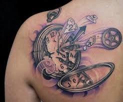 Afbeeldingsresultaat voor sleeve tattoo clock