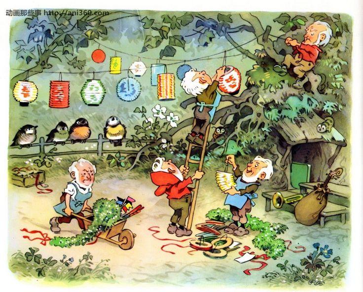 Sommerfest im m rchenwald fritz baumgarten pinterest for Baum garten