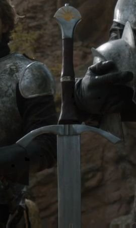 """Dawn is the ancestral sword of House Dayne. The sword's bearer is a knight of the family, who bears the title of the """"Sword of the Morning"""". During the reign of the Mad King, Ser Arthur Dayne of the Kingsguard bore Dawn"""