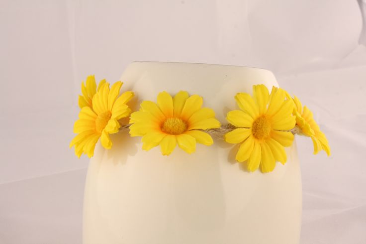 Yellow Floral Head Piece