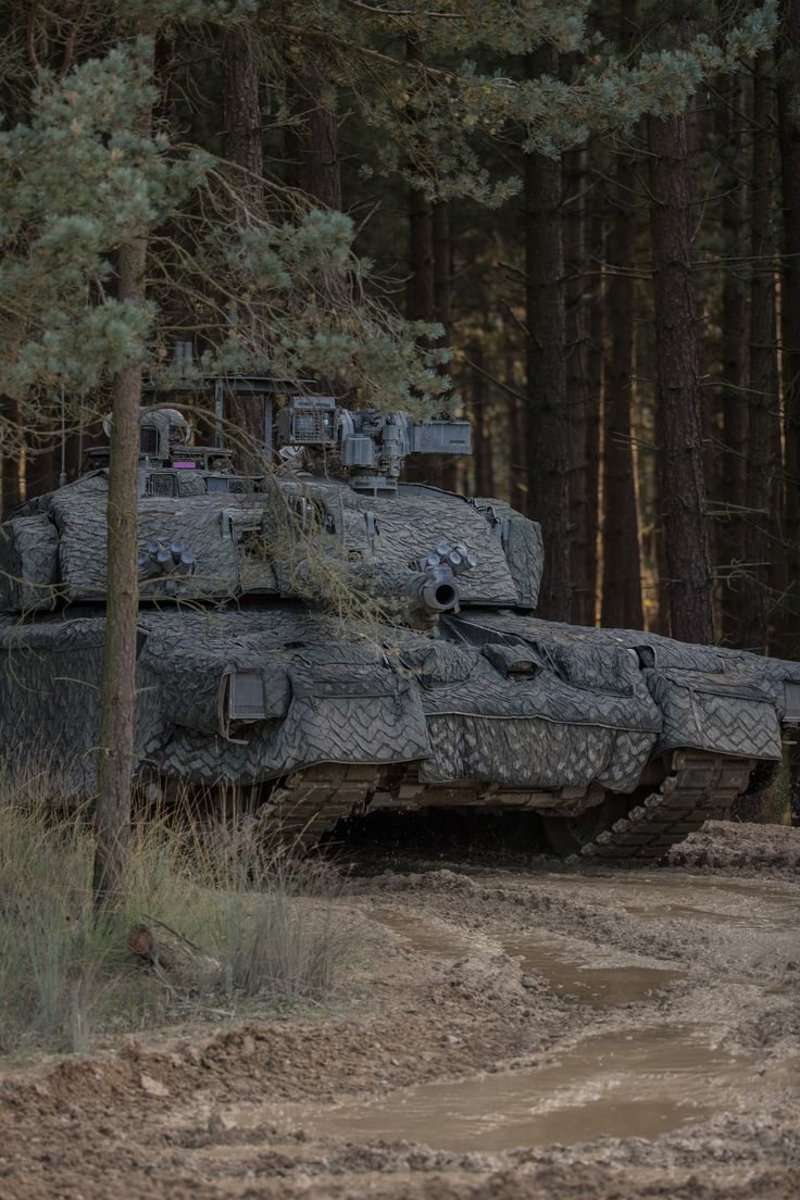 UK Main Battle Tank Challenger 2 fitted with a Mobile Camouflage System (MCS)[118.11 ppc / 300.00 ppi]
