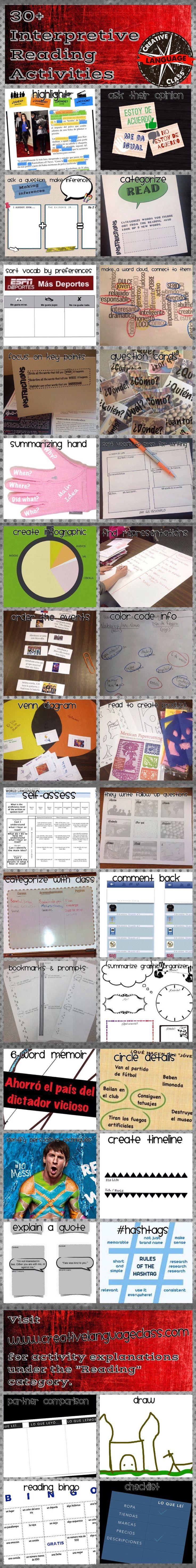 30+ Interpretive Reading Activities