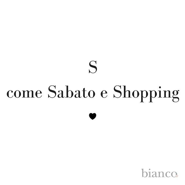 I love shopping! www.biancoloves.it