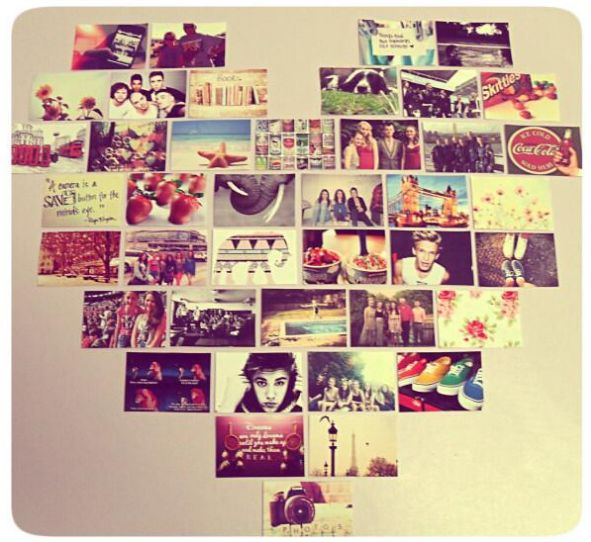 Thinking About Doing Something Like This In My Bedroom... Heart Photo  CollagesPhoto Wall ...