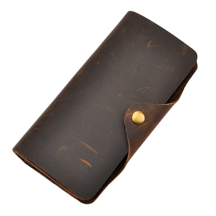 Cattle Men male design vintage Organizal Vintage Bifold Genuine leather Credit Card Cash Coin Holder Checkbook Wallet Purse