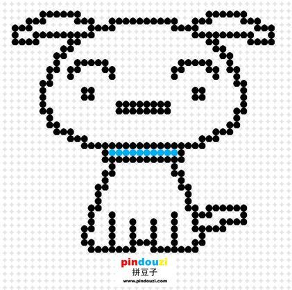 Crayon Shin-Chan perler bead pattern