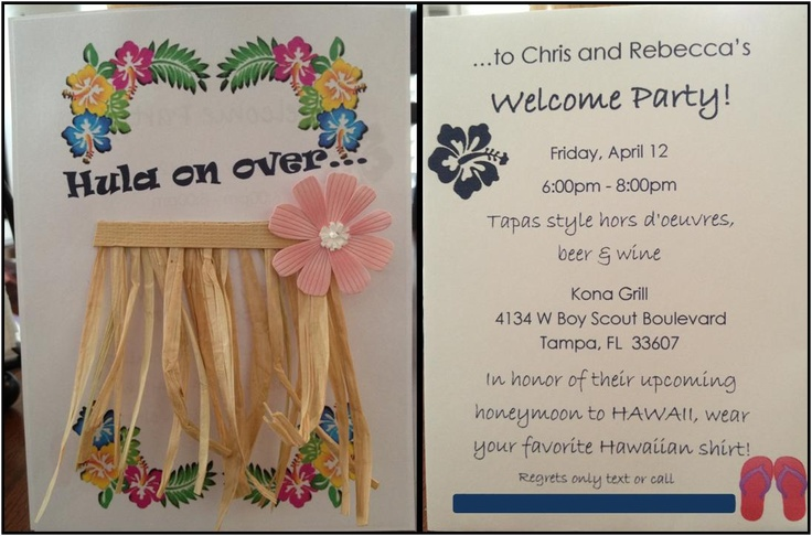 Invitation for casual Hawaiian party--doing this