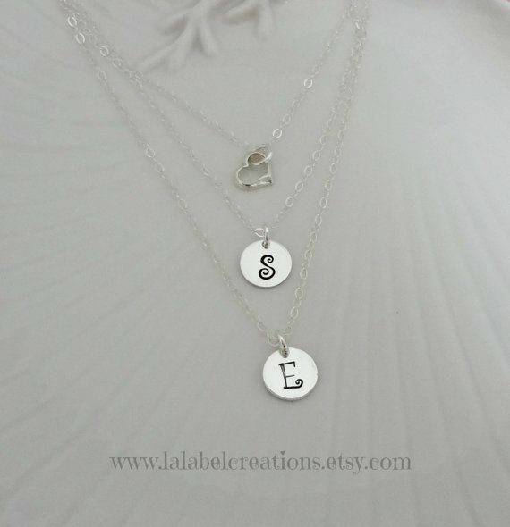 Layered Necklace Silver Layer Necklace by LalabelCreations on Etsy
