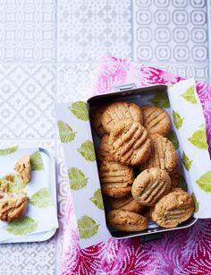Nutritious Peanut Butter Shortbread Cookies for Sainsbury's Magazine