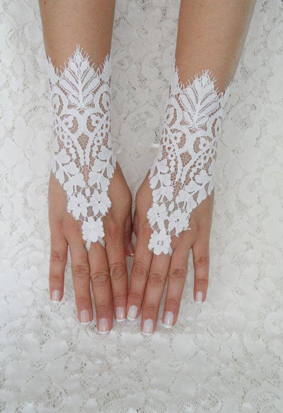 Wedding Glove ivory lace gloves Fingerless Glove by WEDDINGHome, $35.00
