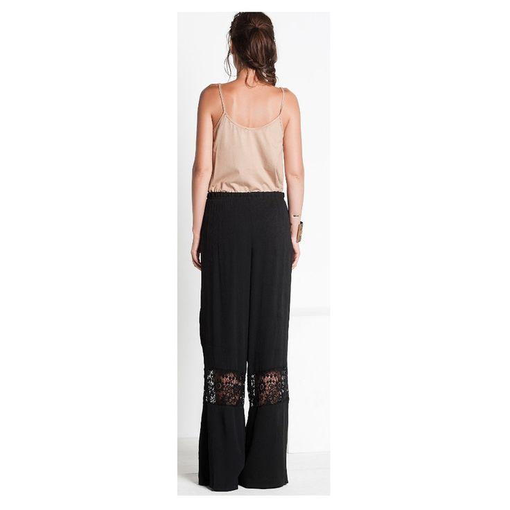 2015yaz Trendi Dantelli Siyah Rahat Pantolon 113 - n11.com