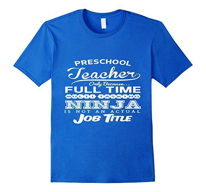 Men's Ninja Preschool Teacher Funny T-shirt 3XL Royal Blue