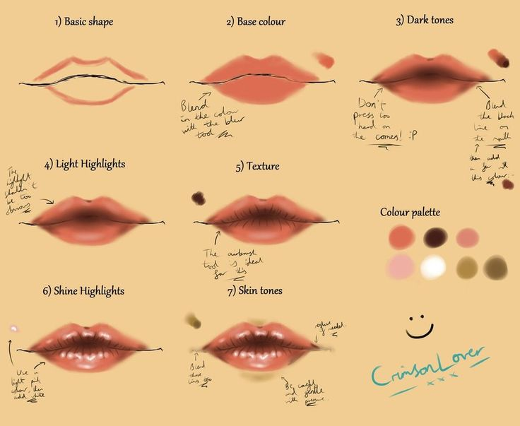 Seeing as my eye tutorial was so popular, I've decided to make a tutorial for lips! I've added in a few annotations for you this time Also, my previous dA name was CrimsonLover, so that explains th...