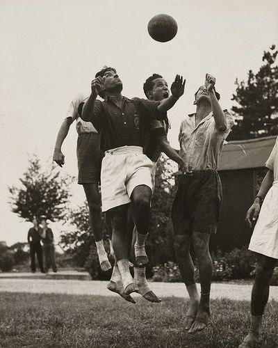 Football played barefoot, Olympic Games, London, 1948.