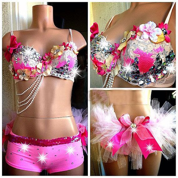Hey, I found this really awesome Etsy listing at http://www.etsy.com/listing/175886015/hawaiian-princess-rave-bra-bottom-rave